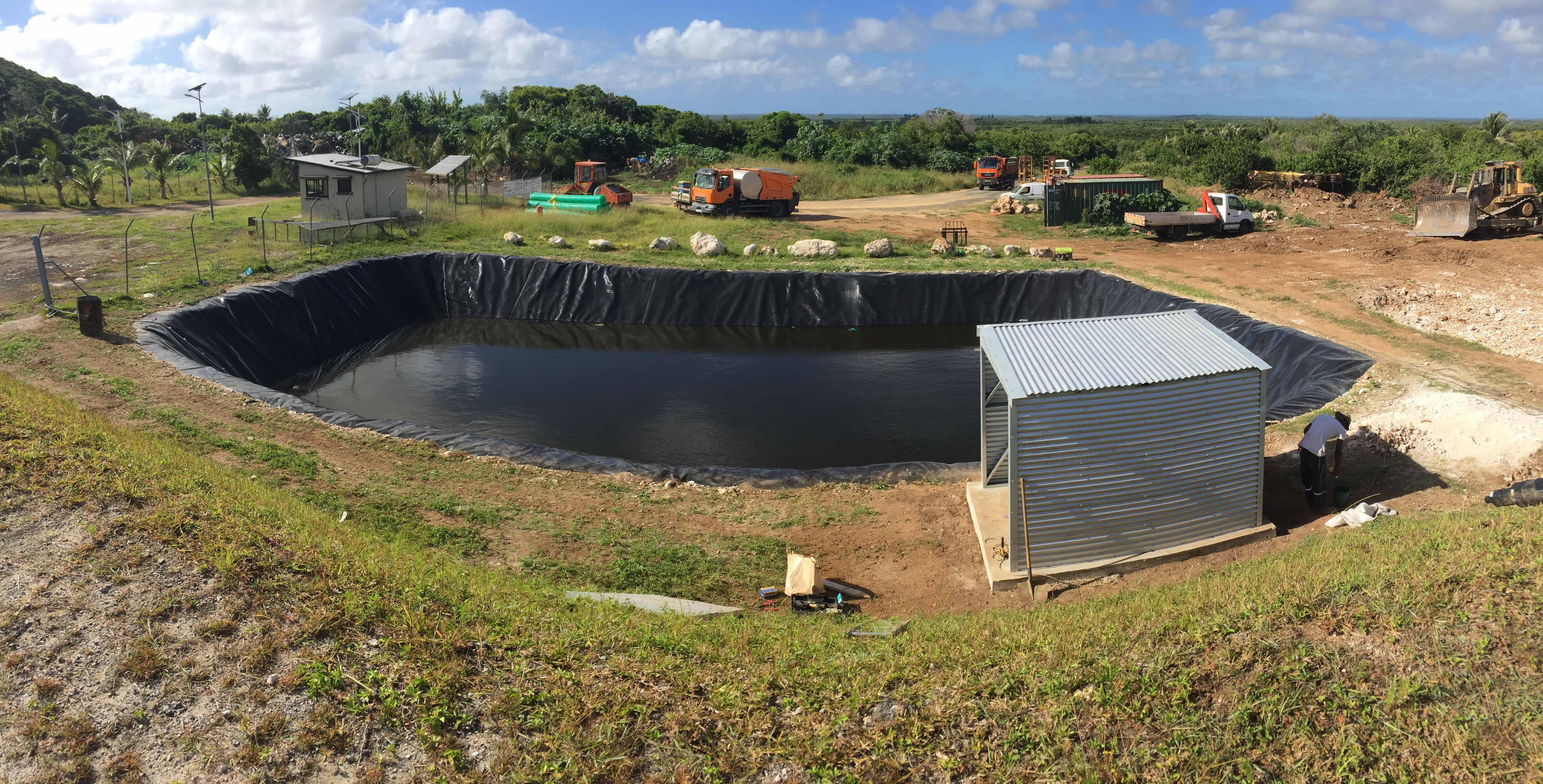 bassin lixiviat - etancheite-geomembrane