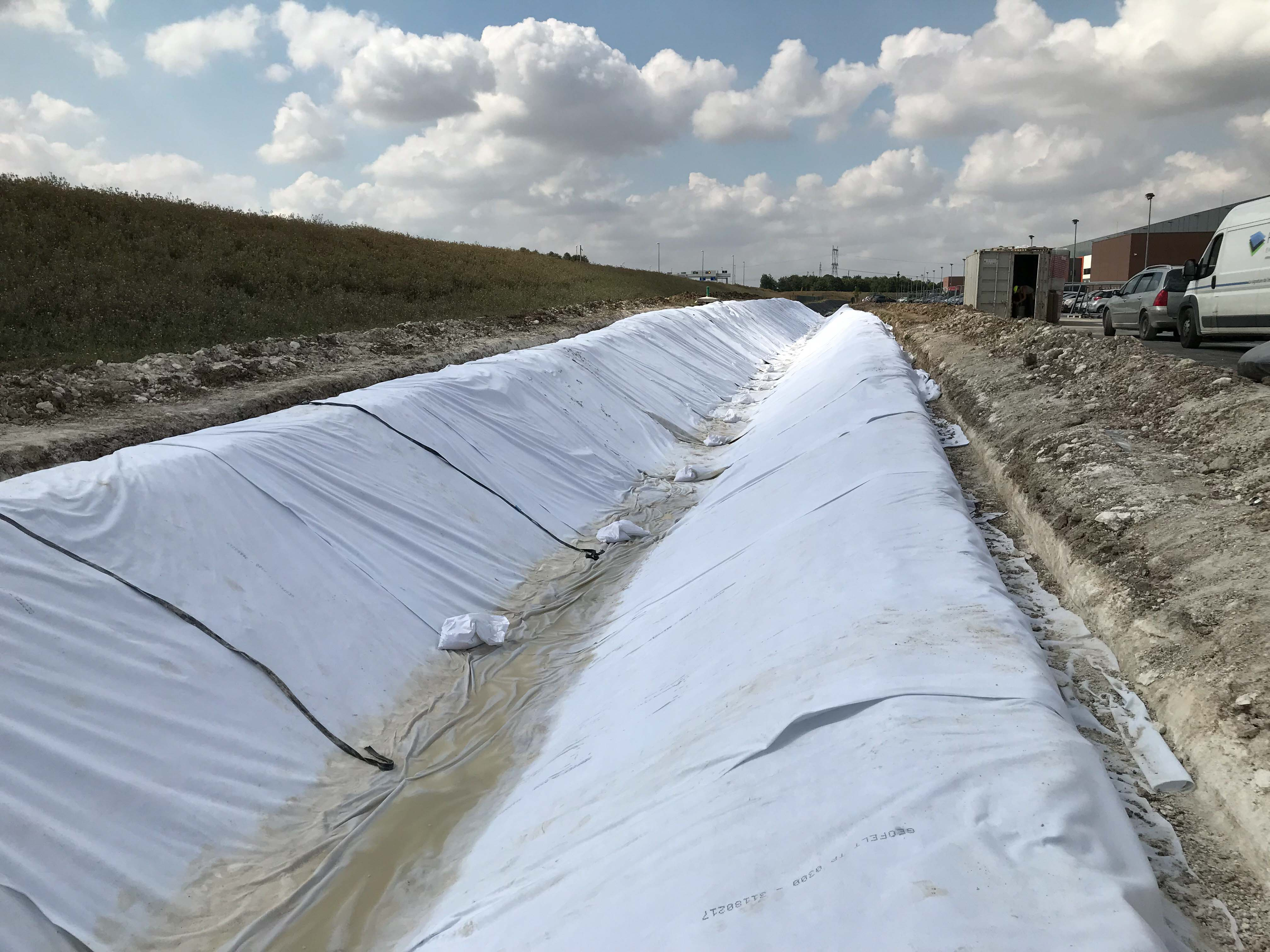 POUPRY NOUE PEHD GEOTEXTILE