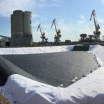 BASSIN industriel avec étanchéité géomembrane
