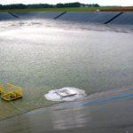 BASSIN irrigation avec étanchéité géomembrane