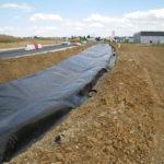 géomembrane pour étanchéité de bassin routier